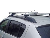 Багажник на рейлинги Renault Sandero / Sandero Stepway Lux Классик с аэродинамическими дугами (53 мм)
