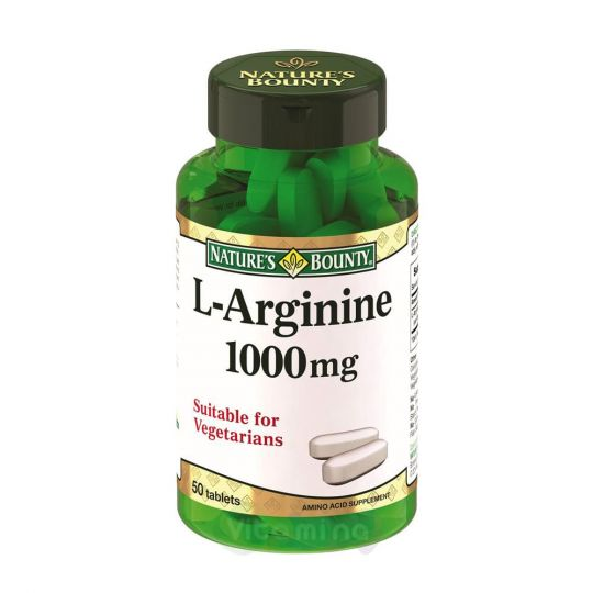 Нэйчес Баунти L-Аргинин 1000 мг, 50 табл