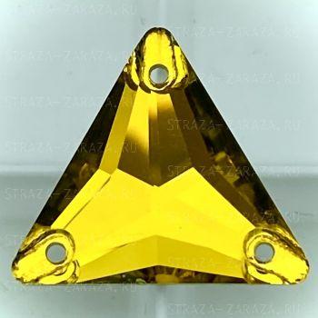 K9 Luxe Пришивные Стразы Vitrail_Topaz Треугольник 16 мм