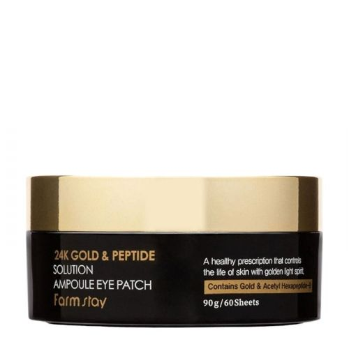 Патчи для век FarmStay 24K Gold & Peptide Solution Ampoule Eye Patch 60шт