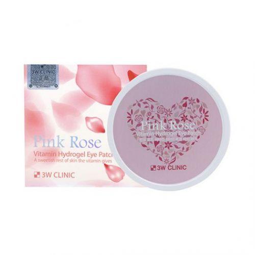 033959 3W CLINIC Витаминные гидрогелевые патчи для глаз Pink Rose Vitamin Hydrogel Eye Patch