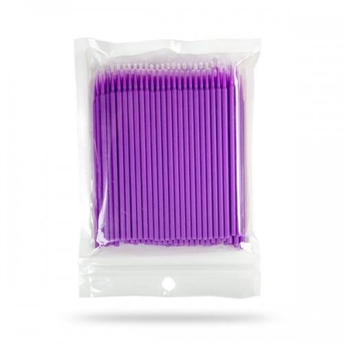 Микробраши , Цвет Фиолетовый, 100 шт/пакет