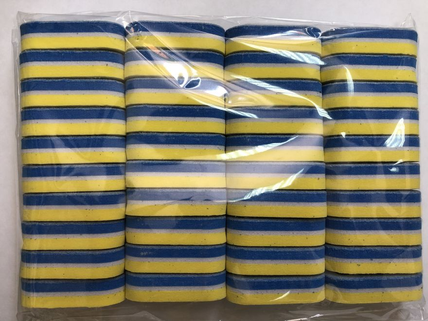 Блок шлифовочный (баф) сине-желтый, малый