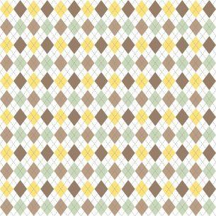 Хлопок Перкаль - Ромбы желто-серые 50х37