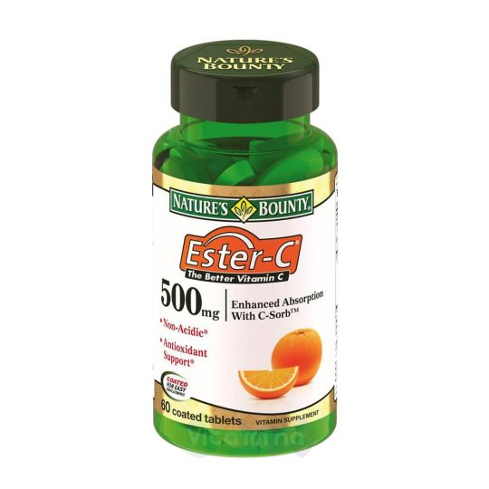 Нэйчес Баунти Ester-C (Эстер-Си) 500 мг, 60 капс