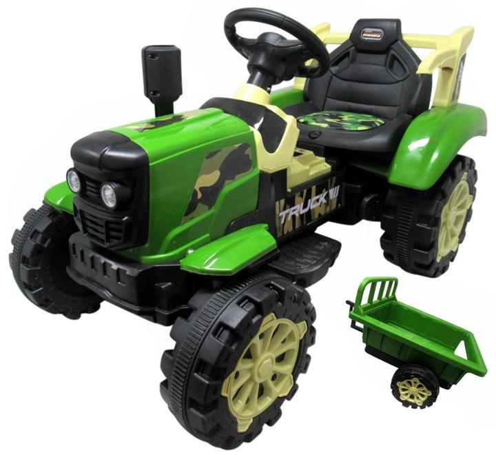 Детский трактор с прицепом
