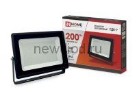 Прожектор светодиодный СДО-7 200Вт 230В 6500К IP65 черный IN HOME