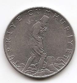 2½ лиры (Регулярный выпуск) Турция  1961