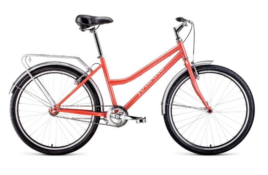 """Городской велосипед FORWARD Barcelona 26 1.0 (2021) коралловый/бежевый 17"""""""