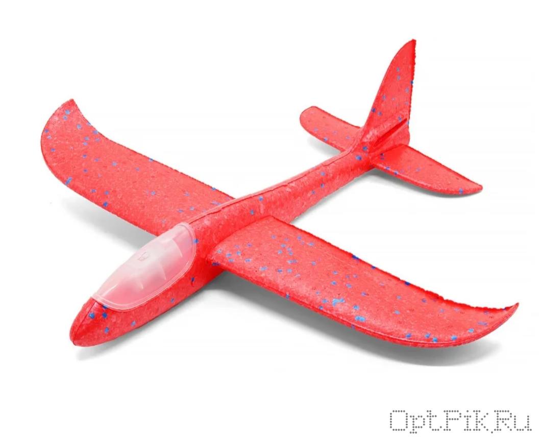 Метательный самолет планер со светодиодами