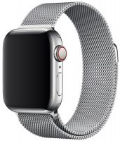 Ремешок миланская петля для часов Apple Watch   42/44mm  серебро