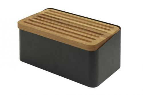 Хлебница Legnoart, с доской для нарезки, чёрная, серия CRISPY 002.023304.020