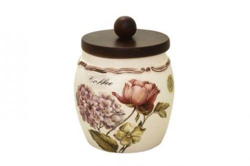 Банка для сыпучих продуктов с деревянной крышкой(кофе) Сады Флоренции LCS010PLC-BO-AL