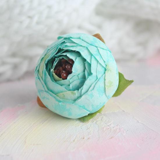 Цветок 3,5 см - тканевый Мятный