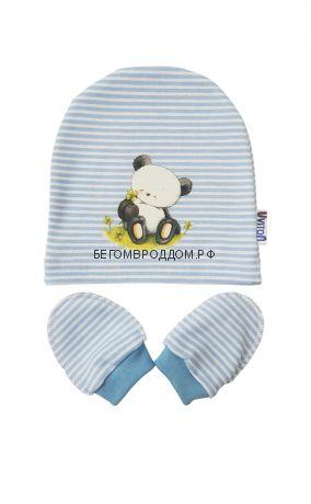 Набор Шапочка и царапки Мишка (голубой)/Uviton