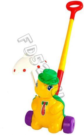 Каталка Черепашка Тортила с ручкой 109333