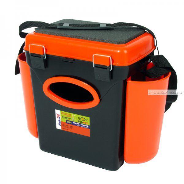 Ящик зимний рыболовный Helios FishBox, односекционный, 10л, оранжевый