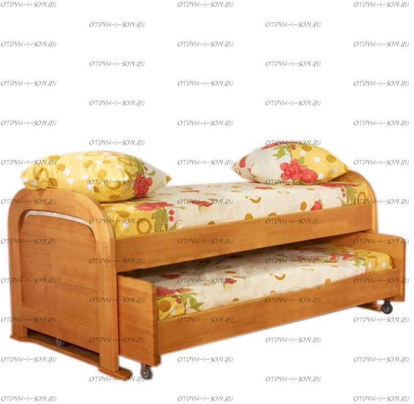 Кровать двухъярусная Мурзилка выкатная №РЛ