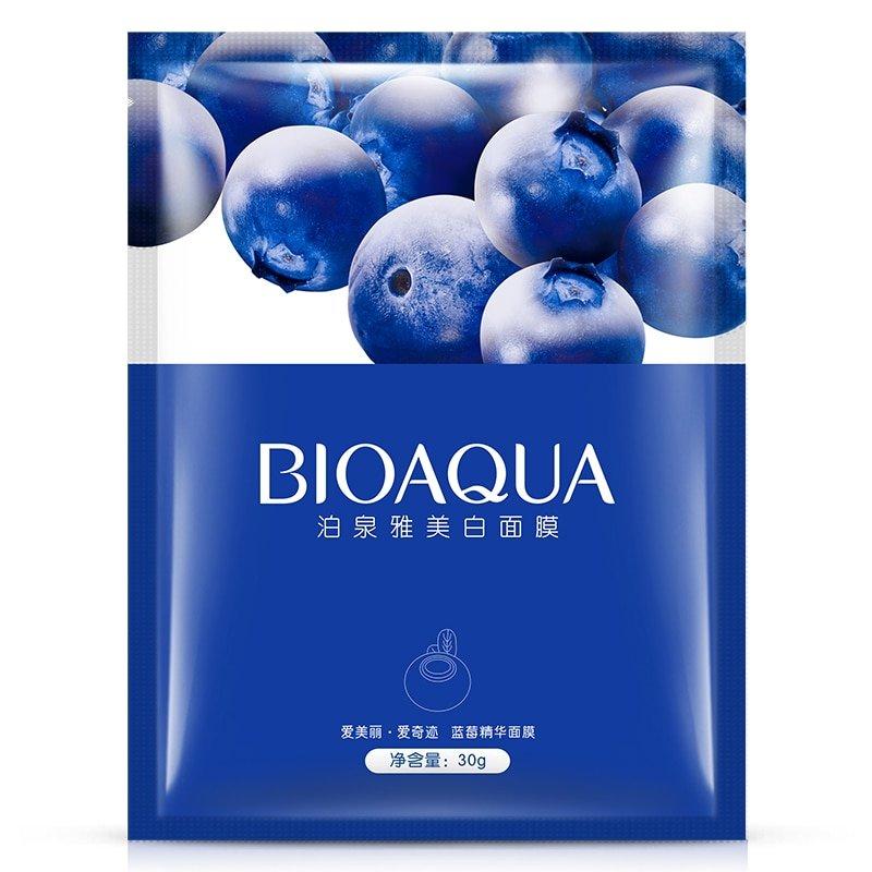 Увлажняющая тканевая маска с экстрактом черники BioAqua Blueberry Facial Mask