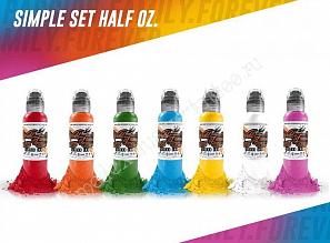 World Famous Ink Simple Color Set (7 colors) 1/2 oz