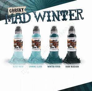 World Famous Ink GORSKY MAD WINTER SET 4 BOTTLES (1 oz)