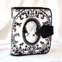 Кожаный женский кошелёк Камея