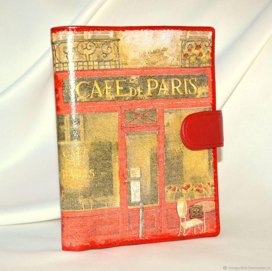 """Портмоне с обложкой для паспорта и автодокументов """"Cafe de Paris"""""""