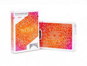 Игральные карты Bicycle Neon Orange Bump Cardistry (кардистри)