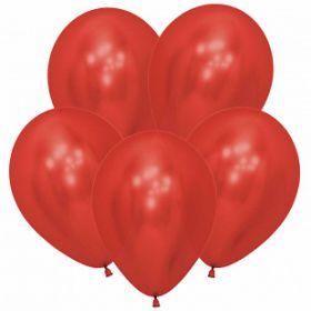 """Рефлекс Красный, (Зеркальные шары), 12""""/30 см,  12 шт, Sempertex"""