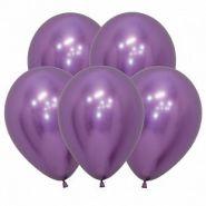 """Рефлекс Фиолетовый, (Зеркальные шары), 5""""/12,5 см,  50 шт, Sempertex"""