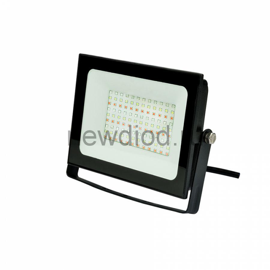 Прожектор светодиодный ULF-F60-50W/RGB IP65 200-240В BLACK мультиколор пульт ДУ (в/к) черный TM Unie