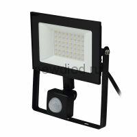 Прожектор светодиодный ULF-F62-50W/6500K SENSOR IP54 200-240В BLACK с дд и освещ 6500К корпус черный