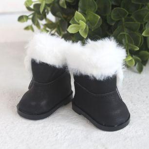 Обувь для кукол - Сапожки угги черные на замочке, 5,5 см.
