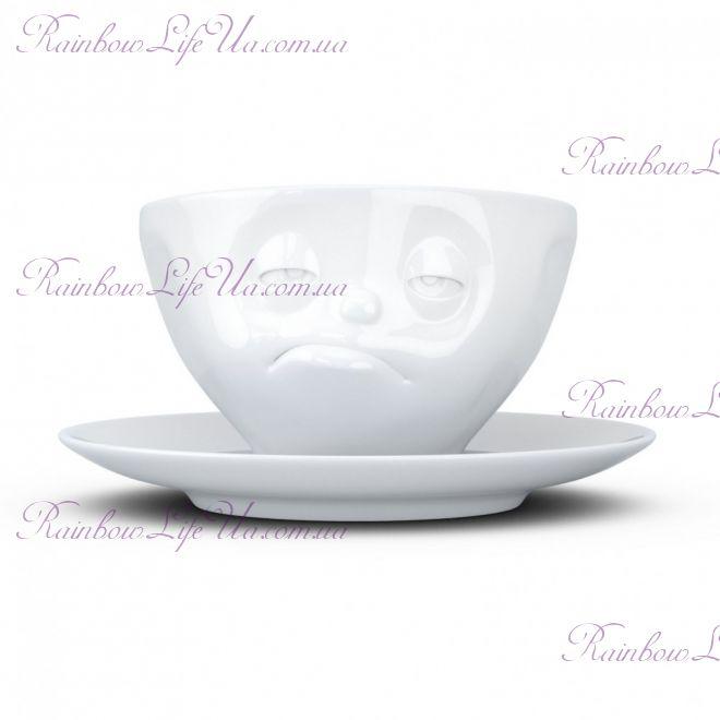 """Чашка с блюдцем для кофе 200 мл Tassen """"Озадаченный"""""""
