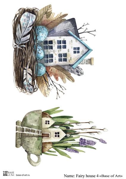 Декупажная карта Base of art, 20*30 см, Fairy house 4