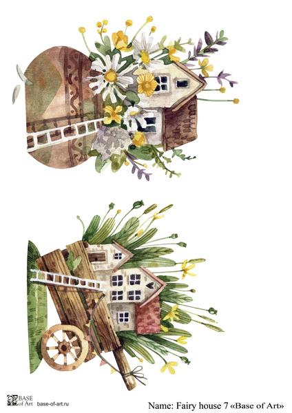 Декупажная карта Base of art, 20*30 см, Fairy house 7