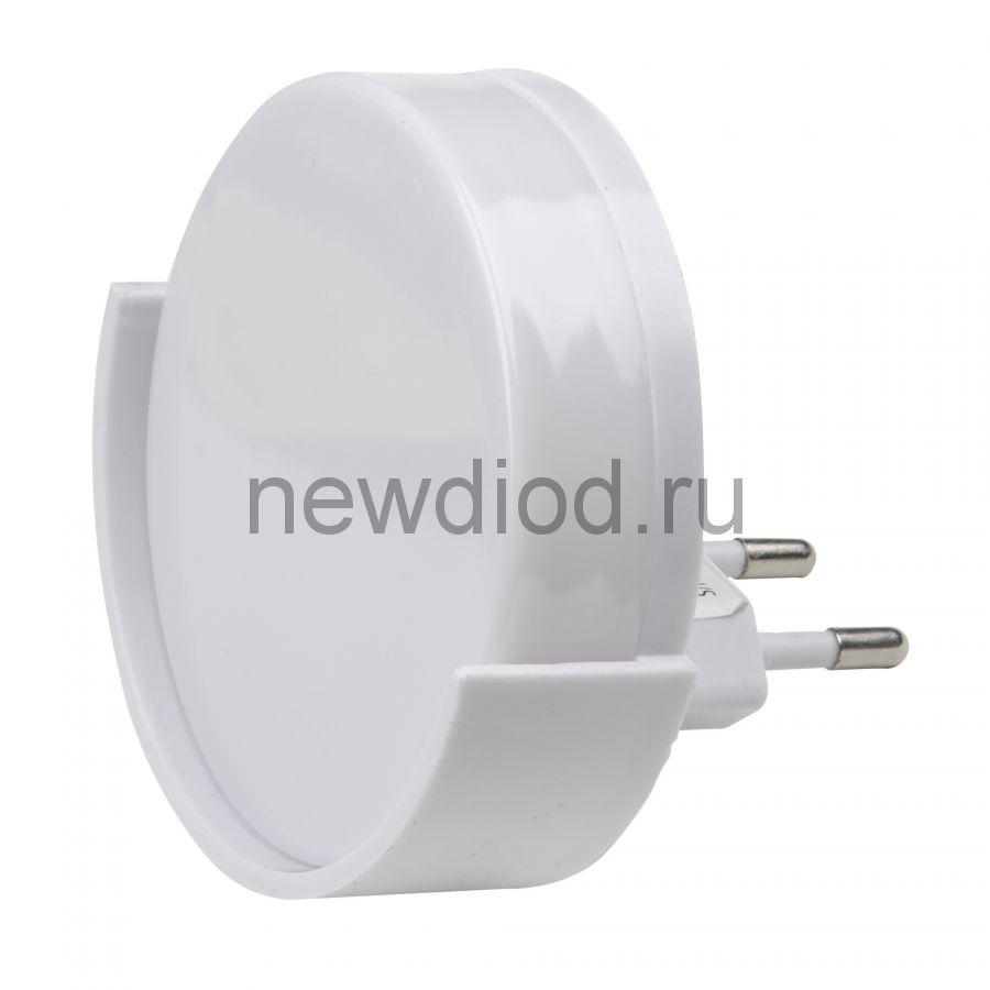 Светильник-ночник Круг/White/Sensor DTL-316 с фотосенсором (день-ночь) белый ТМ Uniel