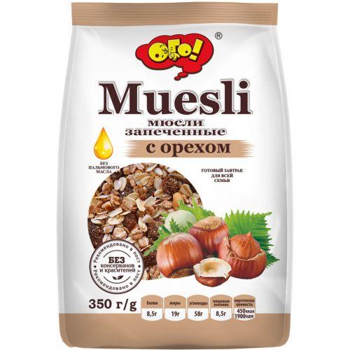 Мюсли Ого Запеченные с орехом 350г