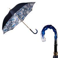 Зонт-трость Pasotti Blu Geisha Boo