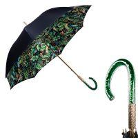 Зонт-трость Pasotti Blu Giungla Lustrini Plastica