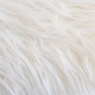 Длинноворсовый мех Молочный, прямой ворс 50х40