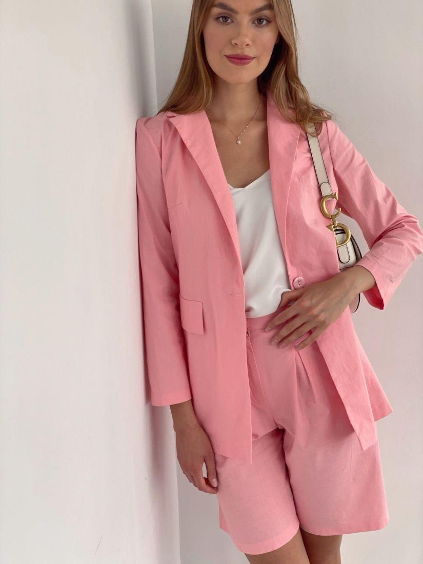 4409 Костюм с шортами в тёплом розовом цвете