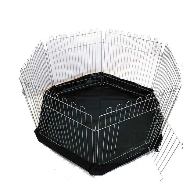 Вольер с дном круг 6х64х63 для собак щенков котят (бр прорезиненный)