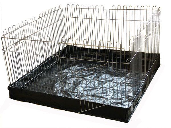 Вольер с Дном  для собак кошек щенков  8х64х63 квадрат (бр прорезиненный)