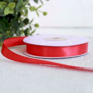 Лента атласная 12 мм, красная