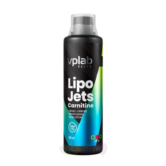 VPLab Жиросжигатель LipoJets Carnitine Лайм-чай, 500 мл