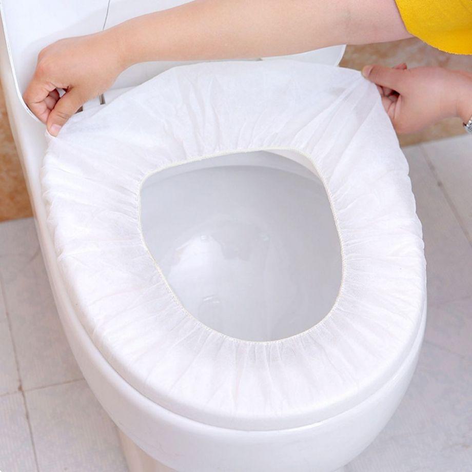 Дорожный набор одноразовых покрытий на унитаз Non-Woven Toilet Mat, Набор из 4 шт.