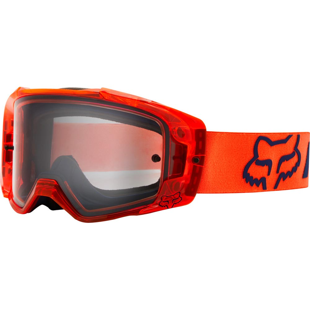 Fox Vue Mach One Fluorescent Orange очки для мотокросса и эндуро
