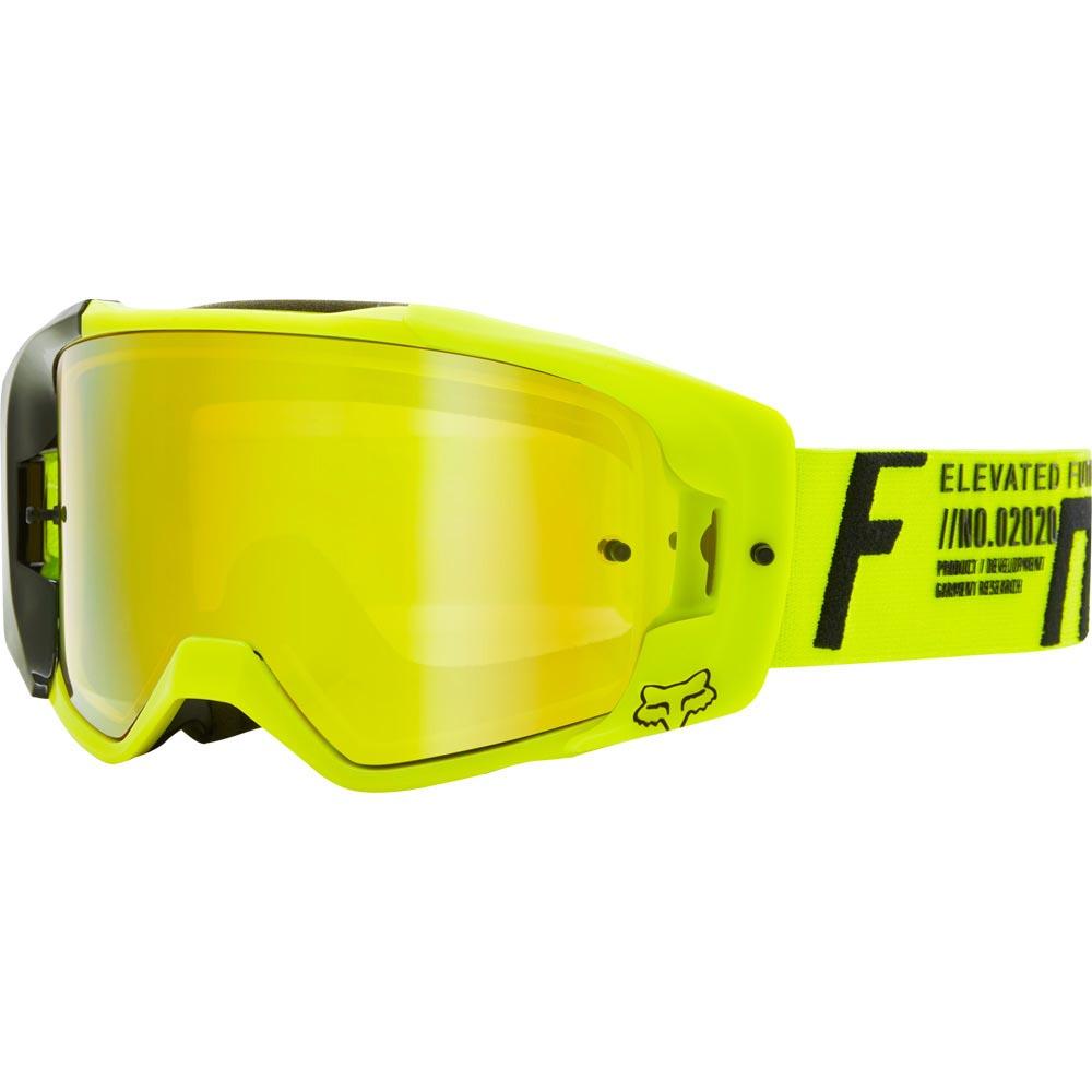 Fox Vue Rigz Spark Fluorescent Yellow очки для мотокросса и эндуро