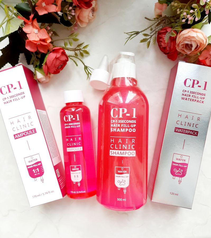 Набор для восстановления волос CP1 3 Seconds Hair Fill-Up (Шампунь 500+ Филлер 170 +сыворотка 120)